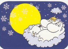 Postcard with Moomin