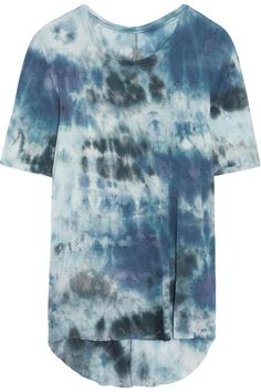 Tonal-blue jersey Slips on  100% rayon Hand wash Designer color: Midnight Tie…