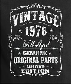 40th Birthday Gift - Shirt Turning 40 - 40 Years Old - VINTAGE 1976 Shirt - Tee…