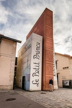 French Bookstore in Aix en Provence shaped like books, incuding Le Petit Prince.