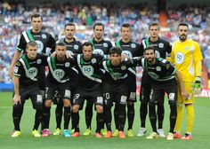 The Crodoba CF tem line up before the start of the La liga match...