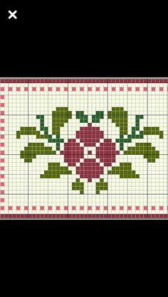 Cross Stitch Borders, Cross Stitch Patterns, Alice In Wonderland Cross Stitch, Tapestry Crochet Patterns, Crochet Flowers, Cross Stitch Embroidery, Pixel Art, Needlework, Cross Stitch Flowers