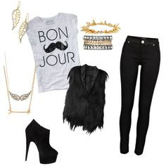 """""""Rocker Chic"""" love the shoes♥"""