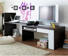 Bookcase desk combo combination retractable TV stand Desk computer desks TV cabinets - iBuyLa_Tmall_Taobao Angent - Online Shopping at iBuyL...