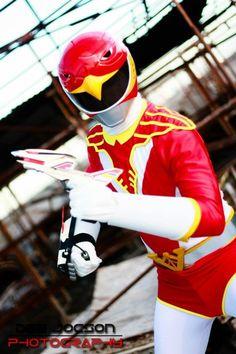 Edzo Jaluag: Red Hawk from Chojin Sentai Jetman (1991) in Otaku House Cosplay Idol 2012