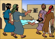 Jesus Heals The Paralytic Man Flip Chart Jesus Heals, Through The Roof, Cooking Classes For Kids, Arctic Animals, Preschool Themes, Sunday School Crafts, Working With Children, Bible Stories, Bible Lessons