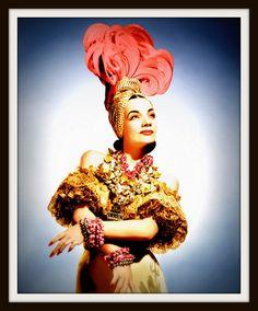 Vintage Celebrity Photo: CARMEN MIRANDA in Copacabana Costume circa 1940 - Giclee Art Print
