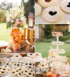 Southern Backyard Wedding: Sarah + Scott love the mini pies! Could do apple for a fall wedding