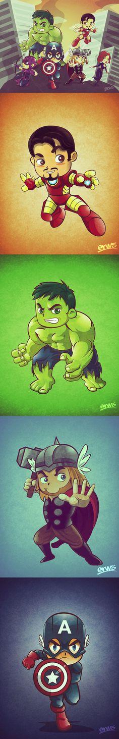 The Avengers - Un Fan Art tout mignon de Martin Erws - GEEK ASiA