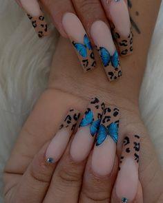 Bling Acrylic Nails, Cheetah Nails, Aycrlic Nails, Dope Nails, Pastel Nails, Nails On Fleek, Fun Nails, Manicures, French Tip Toes