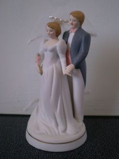 Vintage BRIDE and GROOM WEDDING Cake Topper in by Bizzard on Etsy, $15.00