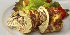 FROKOST: Lavkarbo omelettrull med baconrøre. God både lunken og kald, og passer til et hvilket som helst måltid. Meatloaf, Fett, Protein, Tacos, Mexican, Ethnic Recipes