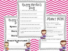 Mother's Day Packet from Miss Nelsons Shop on TeachersNotebook.com -  (4 pages)