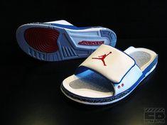 0939a7cacc6b2 Air Jordan III Basketball Sneakers 2018 Retro Slide White True Blue