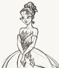 Tiana - Disney Fairytale Designer Collection Rough sketch