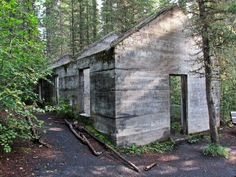 Old mining building along the trail to C-Level Cirque in Banff National Park, Alberta, Canada