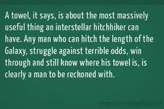 Hitchhikers Guide to the Galaxy by Douglas Adams. One of my favorite lines of the book. If you can go through so much struggle and strangeness and still mind the details, you are kind of a badass by definition.