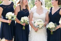 32 Kennedy Blue Weddings Who Nailed the Mismatched Bridesmaid Dress Trend