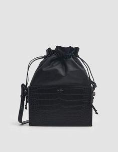 5ab3bbbff3 Off-White   Croc Soft Boxy Bag in Black