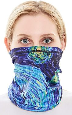 rapidest Sports Face Scarf America Protection Ear Loops Neck Gaiter Balaclava Dust