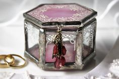 Pink wedding ring holder Ring pillow alternative by LaurusArt