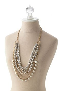 Wear it long and CHANGE IT UP! with the Sutton Necklace in White Stone. 1 Purchase, 5 different looks by Stella Dot