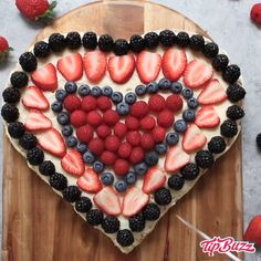 This Heart Shaped Cake With Berries is not only beautiful, but it brings a welcome burst of color that's perfect for loved ones on occasions like Mother's Day, Valentine's Day and beyond. of july food appetizers recipe ideas Heart Shaped Cake Food Cakes, Cupcake Cakes, Fruit Cupcakes, Baking Cupcakes, Heart Shaped Cakes, Heart Cakes, Heart Shaped Foods, Just Desserts, Delicious Desserts