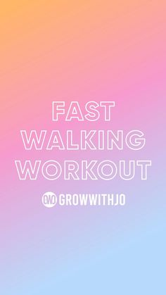 Struggling to find time in your day to workout? This quick and easy routine is the perfect way to get you moving! AND with the growwithjo app you are able to do it anywhere! Let's get our sweat on! Walk The Weight Off, Fast Walking, Easy At Home Workouts, Walking Exercise, Fit Women, How To Plan, Routine, App, Sport