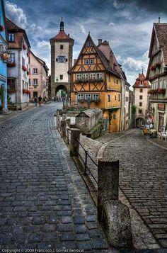 - Rothenburg ob der Tauber, Germany.