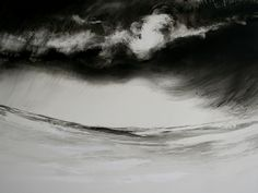 B-sides — Marion Le Pennec(French) via Illustration Art, Illustrations, Modern Art, Waves, Ocean, Clouds, Ink, Black And White, Nature