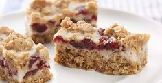 Chobani Yogurt - Cranberry Oatmeal Bars - I made these last night and they tasted wonderful! They are a bit thin, so if you prefer thicker bars, use a smaller pan.