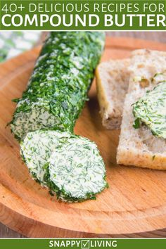 Compound Butter Recipes for Bread, Meat, and Vegetables Sweet or savory, compound butters give any meal a touch of gourmet. From simple honey butter to cranberry butter and chili herb spreads, learn how to make these delicious recipes at home! Flavored Butter, Homemade Butter, Cooking Recipes, Healthy Recipes, Delicious Recipes, Herb Recipes, Gourmet Recipes, Cinnamon Honey Butter, Compound Butter