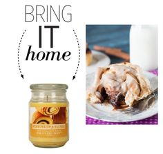 """""""Bring It Home: Cinnamon Rolls Candle"""" by polyvore-editorial ❤ liked on Polyvore featuring interior, interiors, interior design, home, home decor, interior decorating and bringithome"""