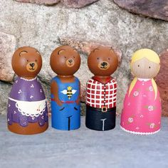 Goldilocks and the 3 Bears Peg Doll Set