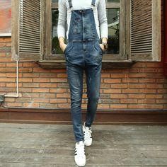 Jardineira jeans para homens 2016 Marca a longo sólida azul magro cowboy geral algodão macacão magras calças de brim dos homens Tamanho 28 34MB16296 em Calças de brim de Dos homens de Roupas & Acessórios no AliExpress.com | Alibaba Group