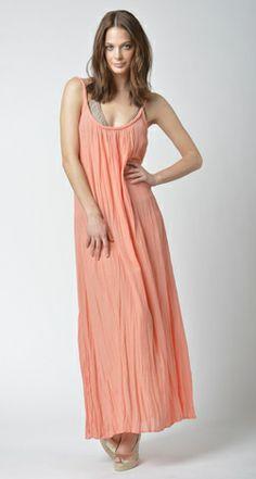 Lisa Curran Swim - Braid Maxi Dress in Cantaloupe