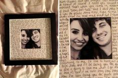 manualidades para mi novio - cuadro carta foto