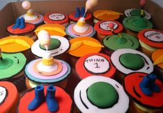Dr. Suess Cupcake Toppers by SweetTooth Cakes and Sugar Flowers