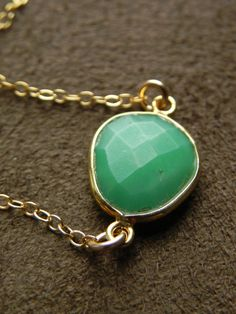 Faceted Chrysophrase Vermeil and Gold Filled by allisonmooney, $40.00