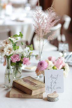 These flower arrangements! Love!