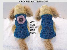 UNISEX ANY SIZE DOG COAT/SWEATER PATTERN, crochet pattern. https://www.etsy.com/listing/223893306/any-size-unisex-dog-coat-crochet-pattern?ref=shop_home_active_1