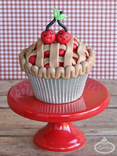 Cherry Pie Cupcake Topper More