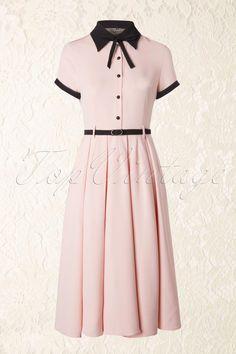 Vintage Dresses Collectif Clothing - Cynthia Doll Dress in Pink - Vintage 1950s Dresses, Retro Dress, Vintage Outfits, 60s Dresses, Doll Dresses, Jw Moda, 1950s Fashion, Vintage Fashion, 1950s Dresses