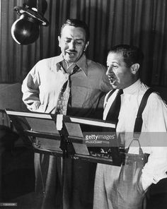 Walt Disney and Clarence Nash Performing the Voices of Mickey Mouse and Donald Duck, Respectively Mickey Mouse, Disney Mickey, Disney Parks, Walt Disney World, Disney Pixar, Disney Couples, Disney Films, Disney Theme, Disney Love