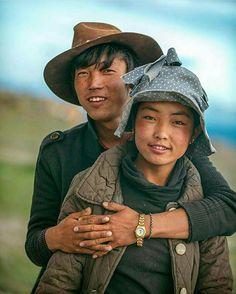 Jeune couple tibétain