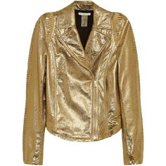 Faith Connexion Isabeli Fontana textured-leather biker jacket ($570) ❤ liked on Polyvore featuring outerwear, jackets, coats & jackets, gold, moto jackets, brown biker jacket, biker jackets, asymmetrical zip moto jacket and faith connexion jacket