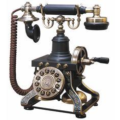 1892 Reproduction Antique-Style Desk Phone