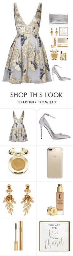 """""""Geen titel #305"""" by alexandrabruninx ❤ liked on Polyvore featuring Notte by Marchesa, Jimmy Choo, Milani, Speck, Oscar de la Renta, Yves Saint Laurent, Oliver Gal Artist Co. and Loeffler Randall"""