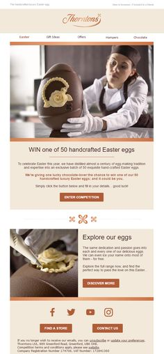 Competition email from Thorntons #EmailMarketing #Email #Marketing #Competition #Chocolate #Gifts