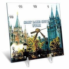 Utah Temples, Lds Temples, Buy Desk, Desk Clock, Salt Lake City, Sky, Amazon, Clock Table, Heaven